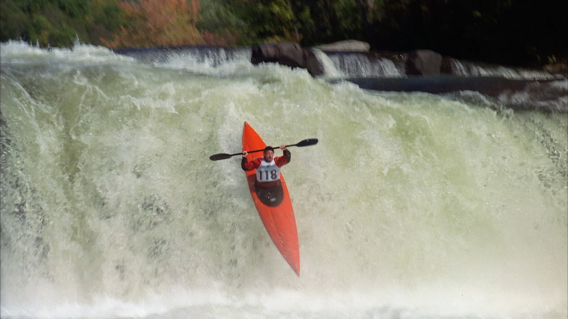 kayaker over the waterfall for pittsburgh's big picture