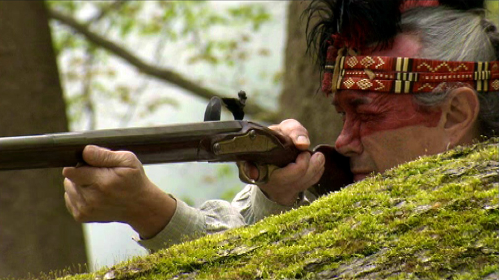 lining up to take the shot for the battle of 1812