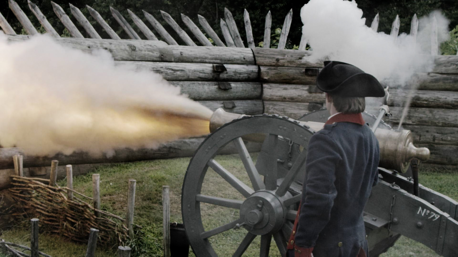 Firing of the cannon at knox headquarters