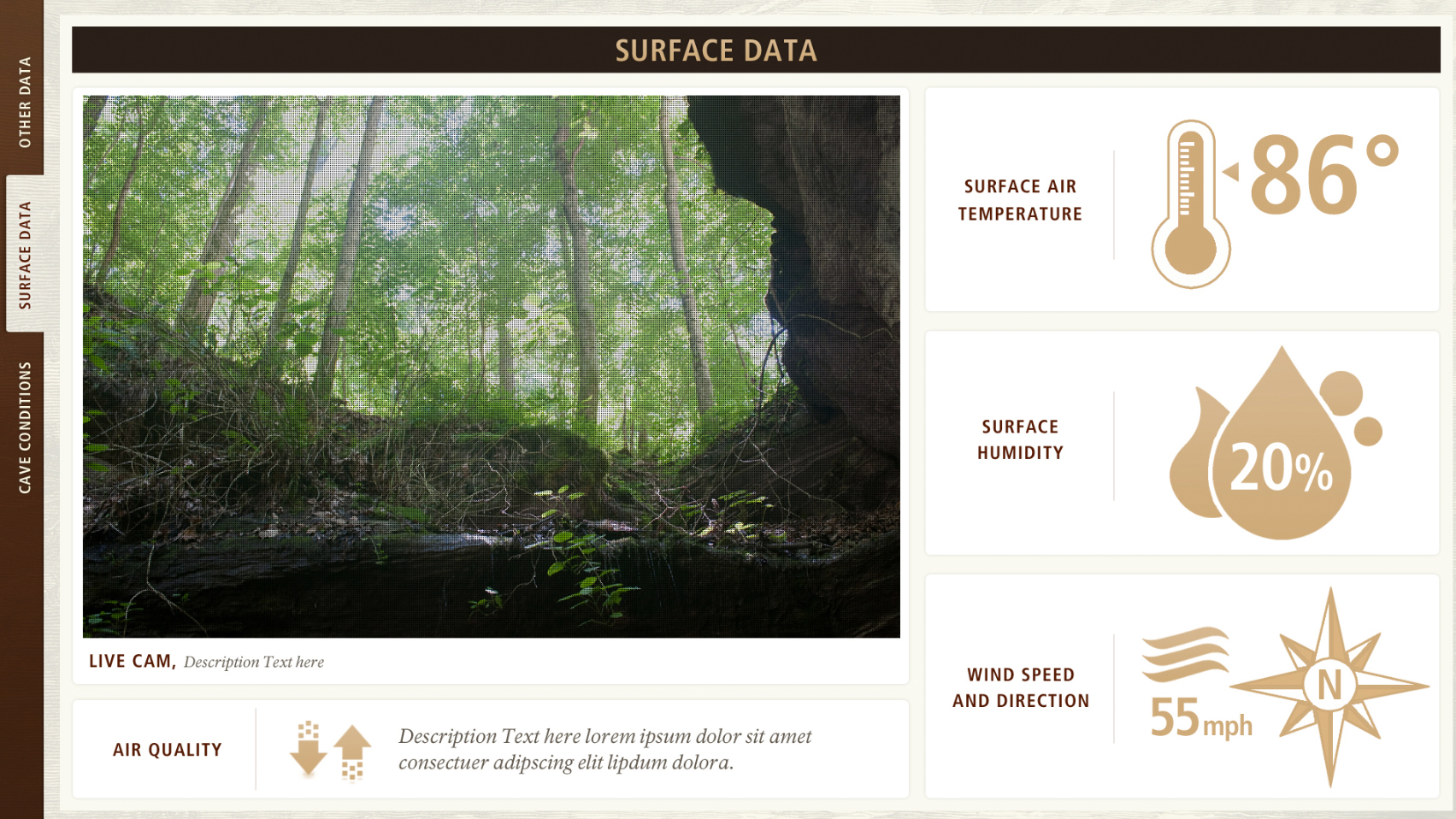 mammoth cave interactive screen