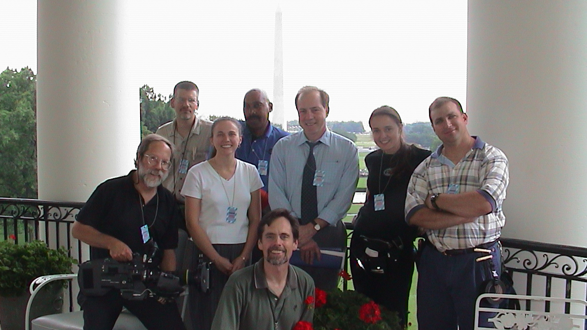 crew on white house truman balcony