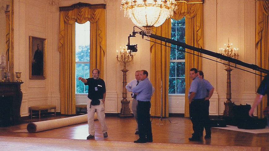 filming in the white house east room